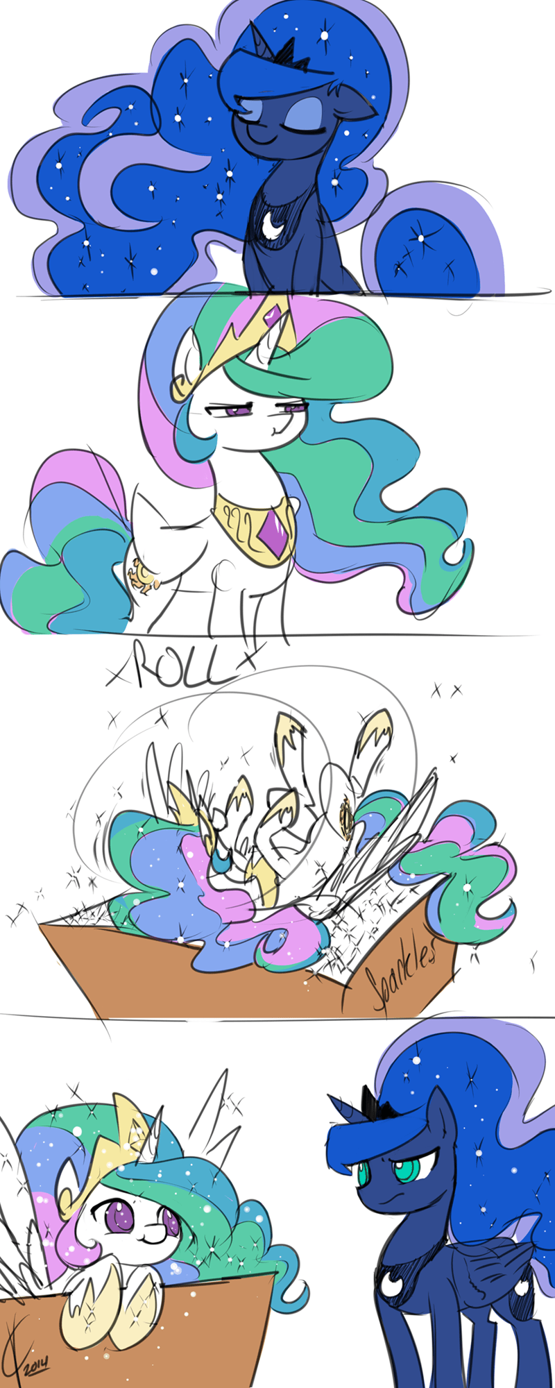 princess luna,comic,princess celestia