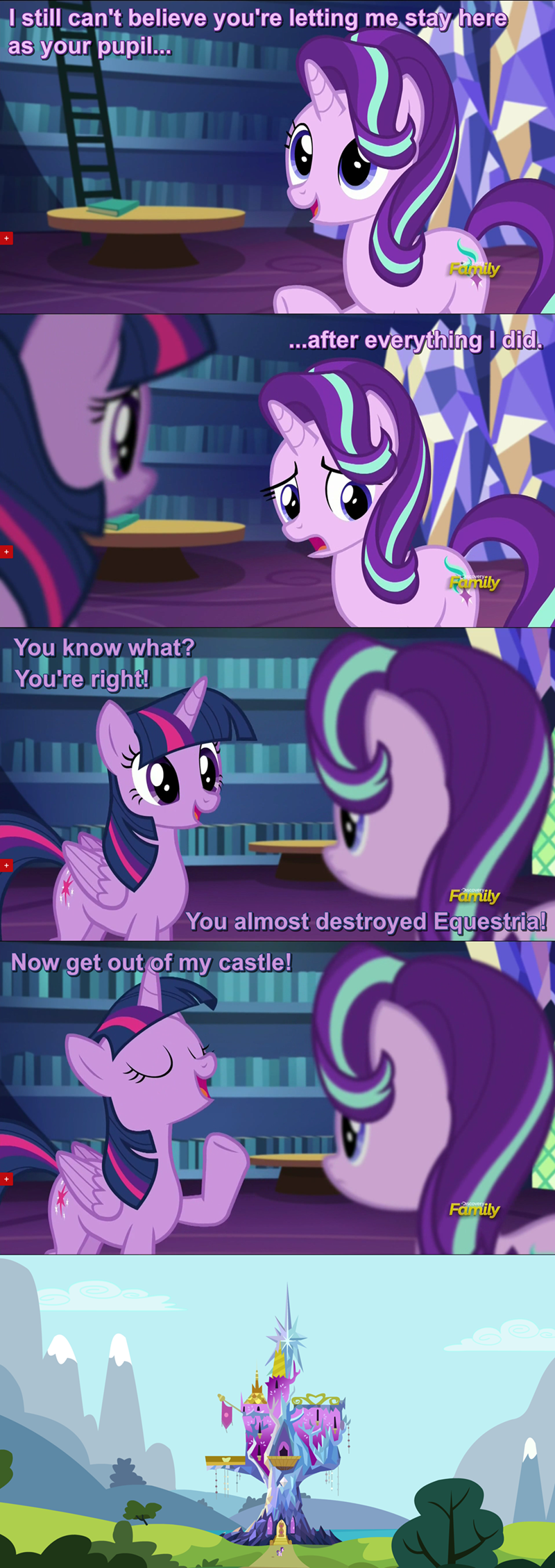 starlight glimmer,twilight sparkle,the crystalling,comic