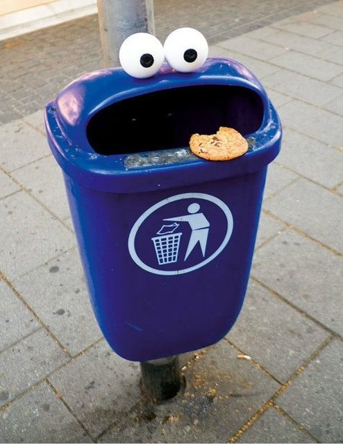 recycling graffiti cookies Deposit Cookies in the Proper Receptacle