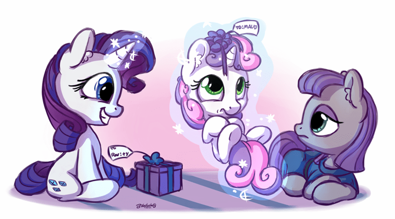 Sweetie Belle the gift of maud pie rarity maud pie - 8763892224