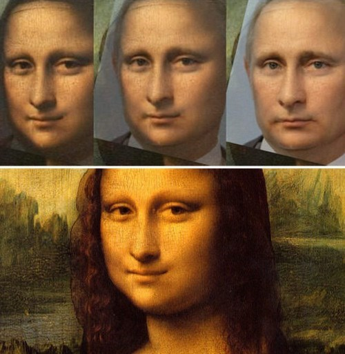 mona lisa putin image The Secret Behind Her Smile