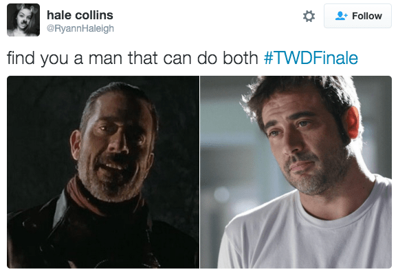 twitter,Greys Anatomy,negan,The Walking Dead