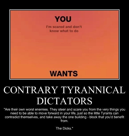 CONTRARY TYRANNICAL DICTATORS