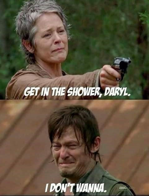 get in the shower daryl
