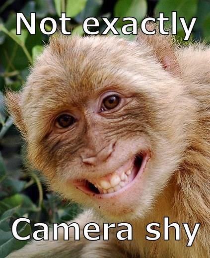 Not exactly  Camera shy