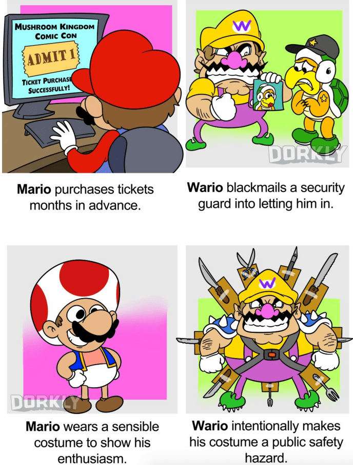 mario-wario-nintendo-characters-attend-convention-web-comics
