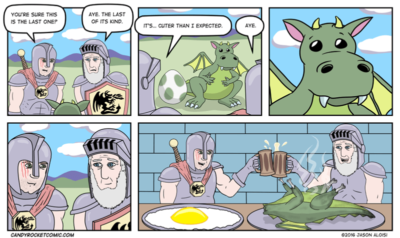 Sad,knights,dragons,folklore,web comics