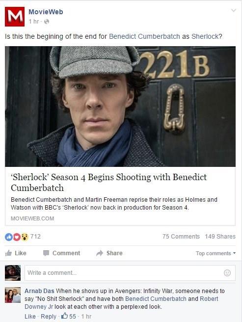 acting facebook Sherlock avengers - 8765117440