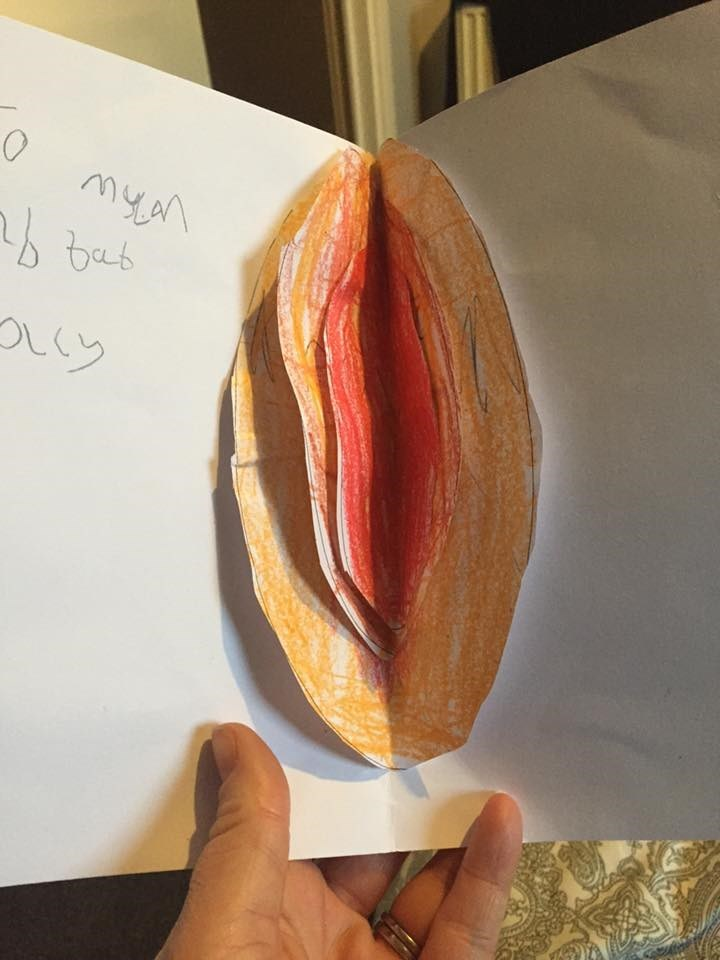funny parenting image easter egg card looks like a vagina