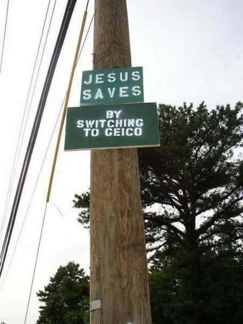 ads jesus signs Well, That's a Heck of an Endorsement