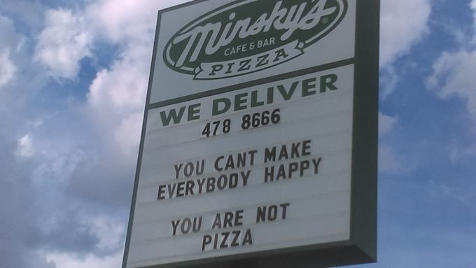 pizza signs wisdom Don't I Know It