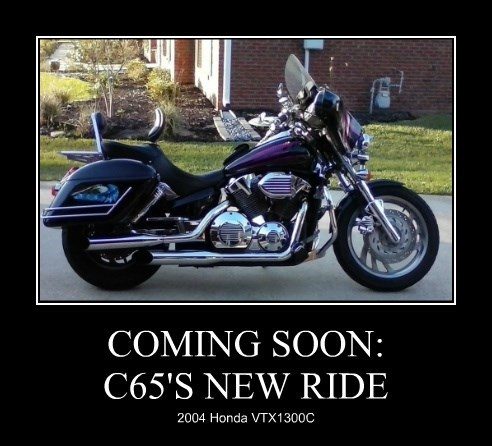 COMING SOON: C65'S NEW RIDE