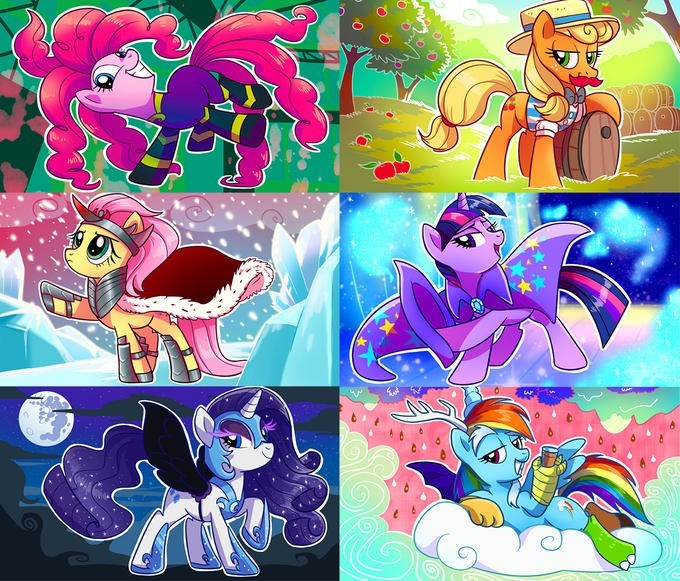 flam,sombra,applejack,the great and powerful trixie,nightmare moon,cosplay,discord,twilight sparkle,pinkie pie,rarity,mane-iac,fluttershy,rainbow dash