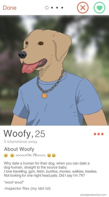 dating doghuman wins tinder and life