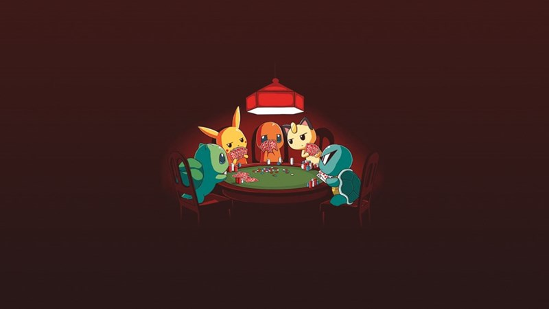 Pokémon,squirtle,cards,pikachu,poker