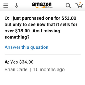 amazon answers image You're Not Wrong...