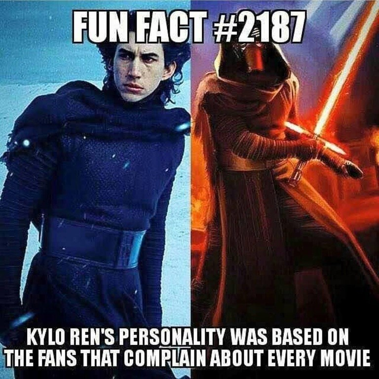 star wars facts kylo ren That's Why He's so Relatable
