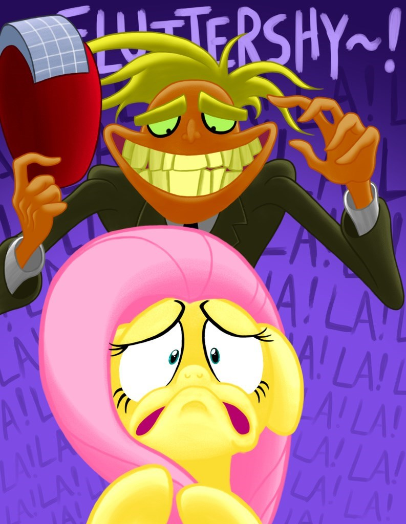 freaky fred courage the cowardly dog fluttershy - 8767193344