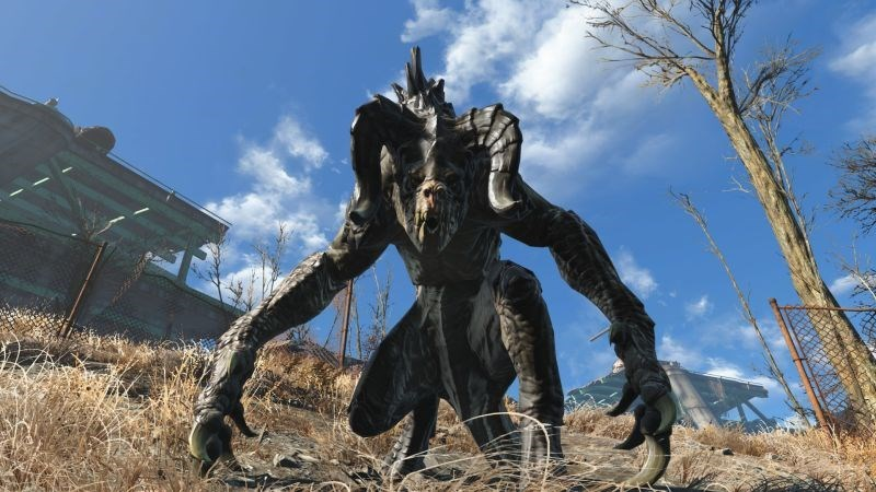 video-games-fallout-4-deathclaw-tamed