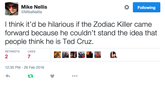 zodiac killer ted cruz twitter After All This Time, This Is What Does It?
