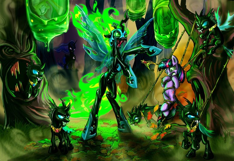 applejack nightmare moon mashup twilight sparkle pinkie pie princess luna chrysalis fluttershy changelings - 8768192000