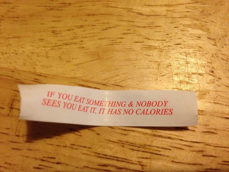 fortune cookie facts calories That... Doesn't Seem Right