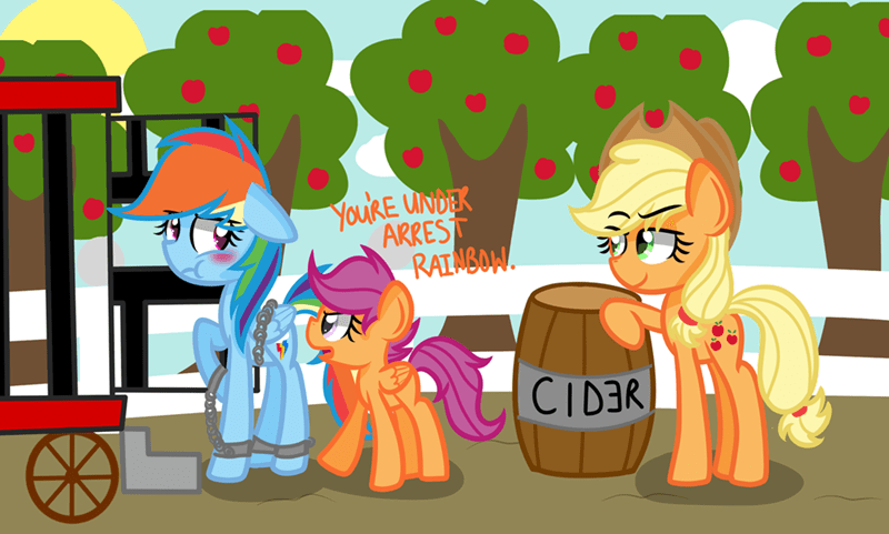 applejack Scootaloo rainbow dash - 8768308224