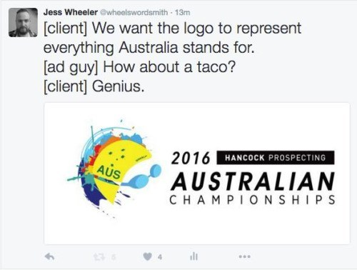twitter logo australia And Give the Taco Some Little Blue Fists So It Can Fight People