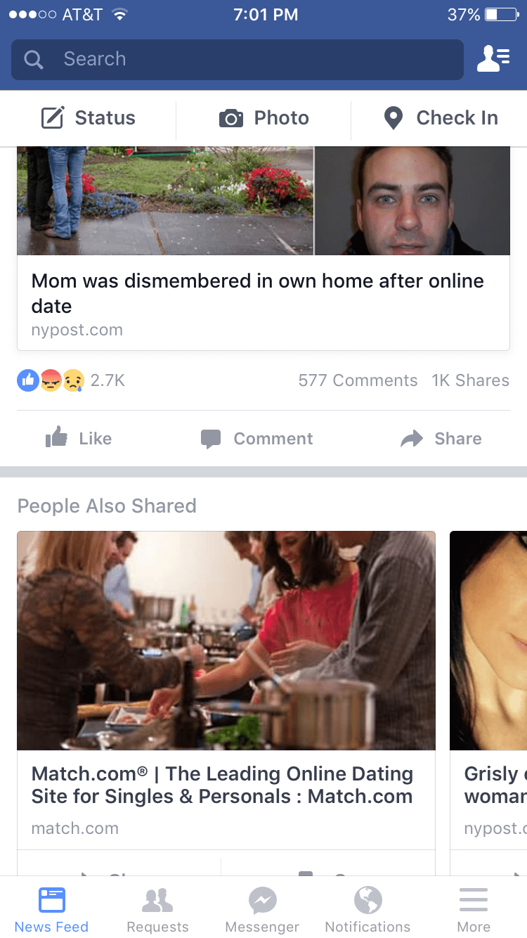 failbook facebook dead advertisements