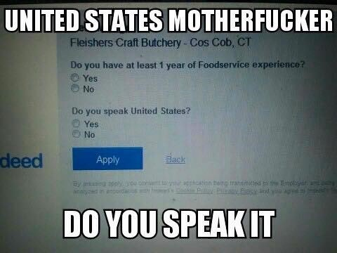 application languages america Is This a Trick Question?