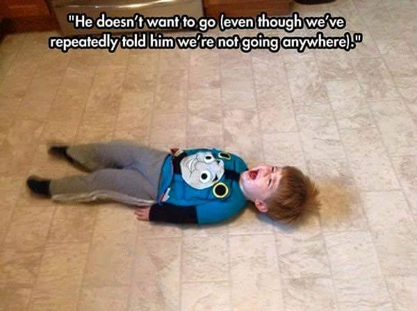 kids cries about going nowhere