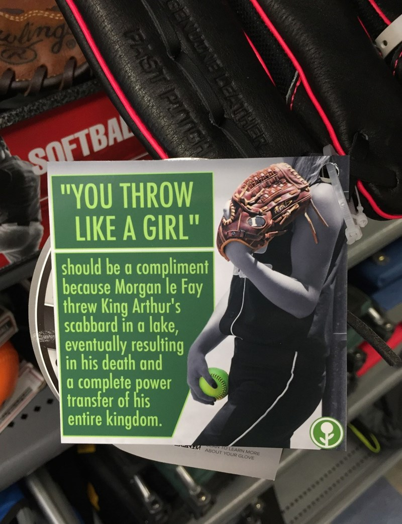 prank sports obvious plant Bringing Women's Empowerment to Sports via Arthurian Legend