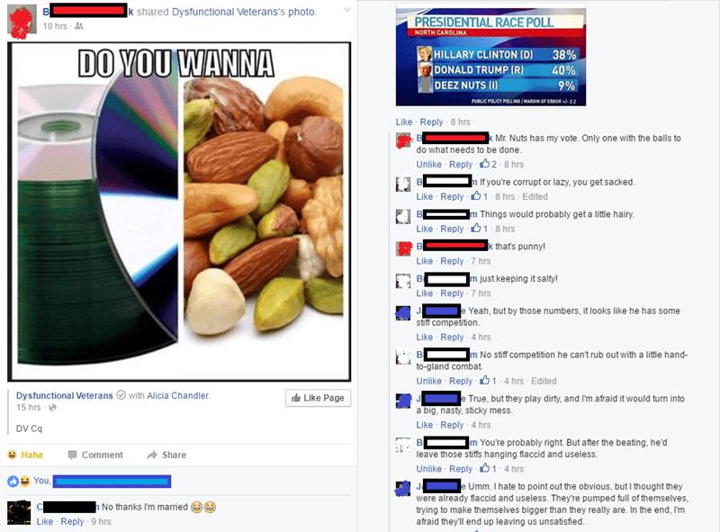 deez nuts failbook election voting - 8768631040