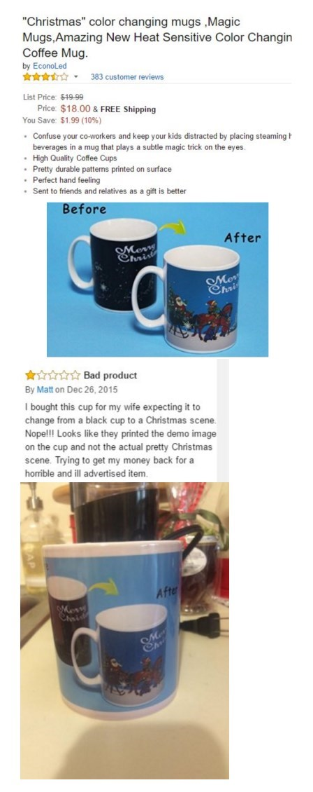 false advertising mug reviews Your Co-Workers Will Be Confused