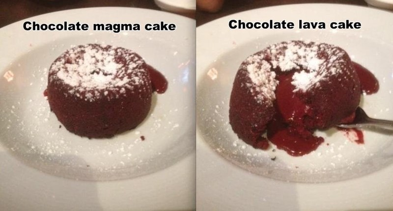 magma lava cake There's a Difference!