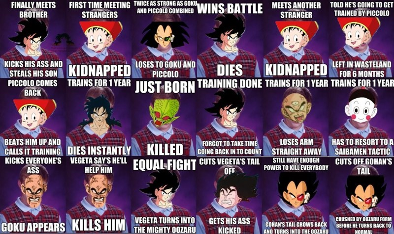 bad luck dragonball z lol manga - 8768755456