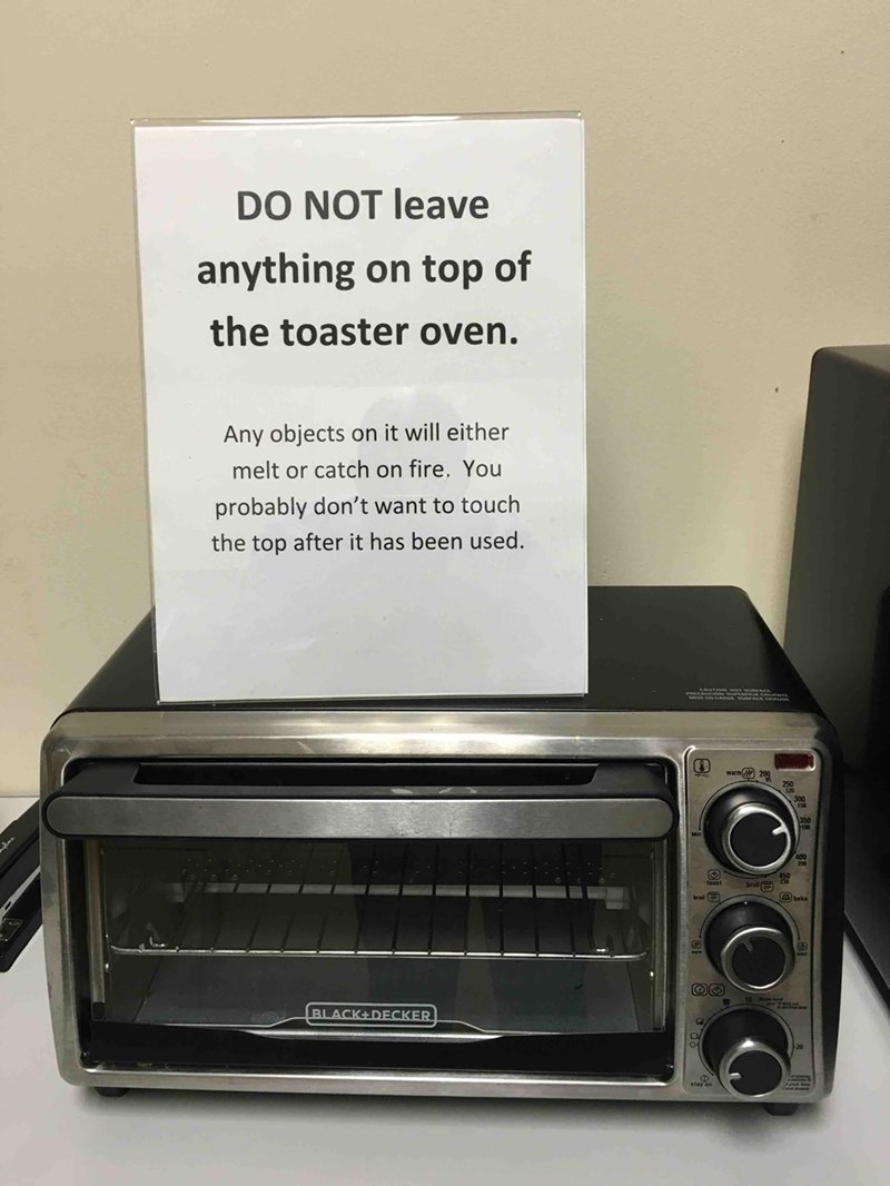 toaster sign advice But That Sign...
