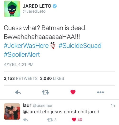 twitter joker method acting The Joker Has No Chill
