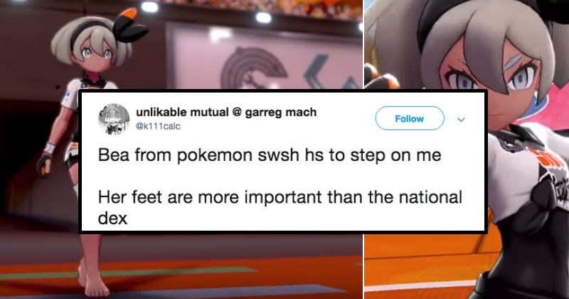 Pokémon Sword and Shield gym leader named Bea sets off everyone's inner foot fetishist.