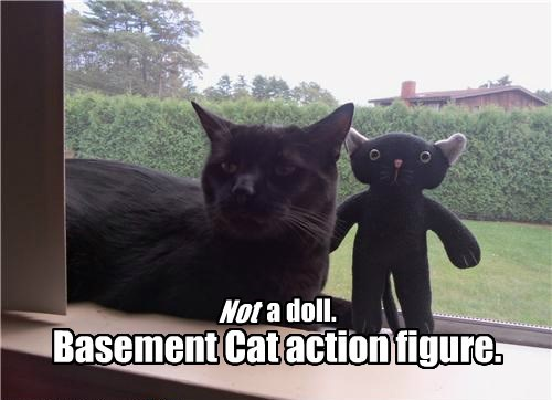 basement cat,caption,action figure