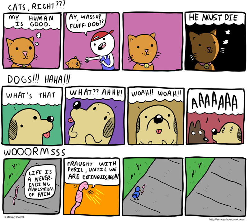 dogs comics worm Cats animals - 8770991360