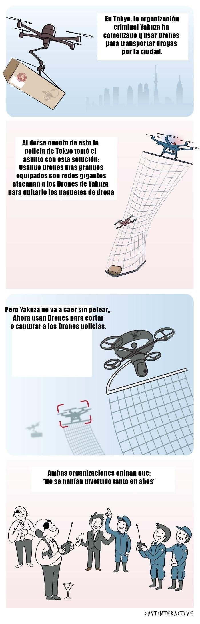 lucha de drones
