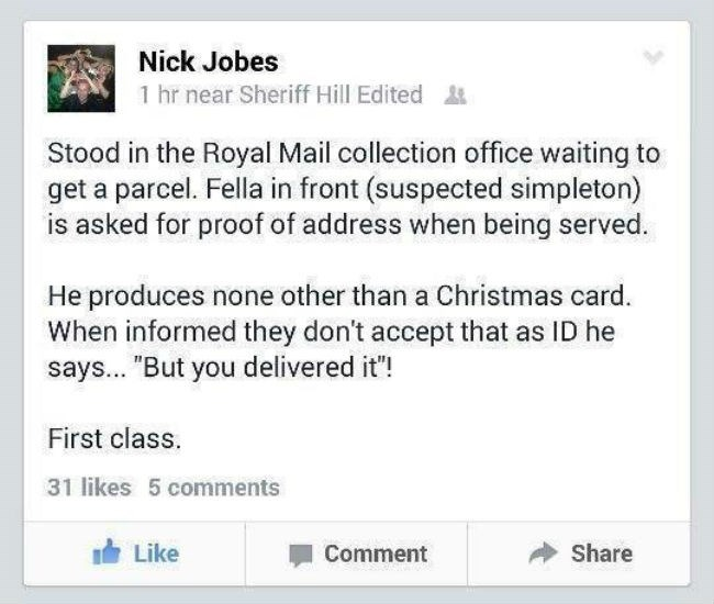 guy uses christmas card as proof of address
