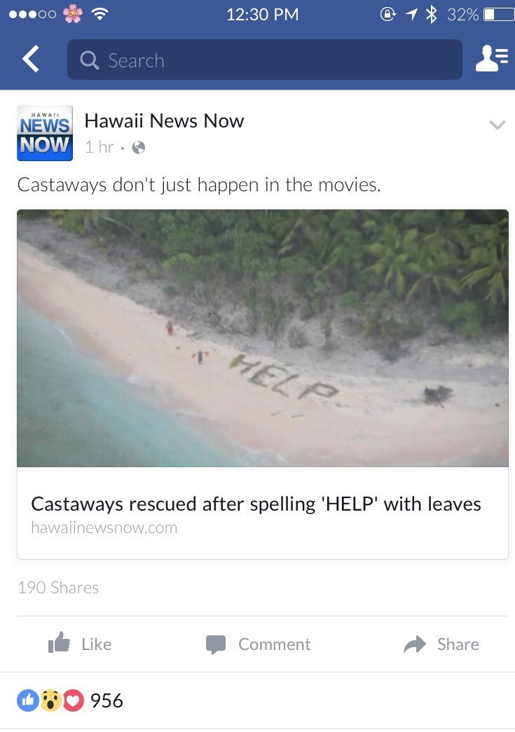 castaways spell help to get rescued facebook