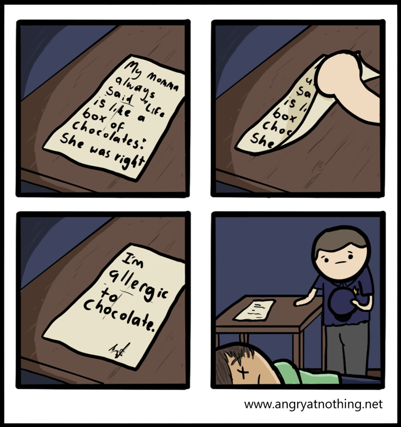 allergies chocolates comics - 8771286784