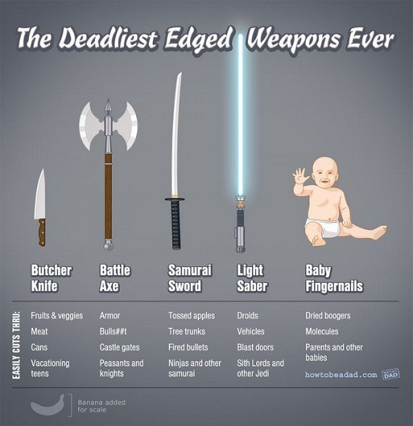 The deadliest weapon is a babys fingernails