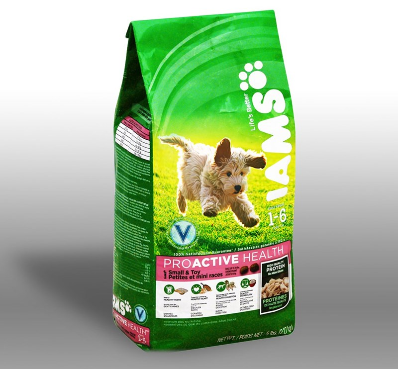 Dog food - s n . dem omgits OUS S AUMEnT i tunou ma w DAN r 1-6 maneet0 metitine 100% SatisfacionGuarantee/ Satisfaction garantie los PROACTIVE HEALTH te odun HIGH QUALITY PROTEIN 40% Small & Toy Petites et mini races r OEMANT No Added 243 in MAD EACUSM MS V PROTEINES DE HAUTE QUALI Sp HEALTHY DIGESTTON HEALTHY HEART HEALTHY TEETH MTAOUMES sONNE CIGESTON ENA DIGESTd MTAROLSMO SALUGANE DENTS SAINES caueEN SANE CORAZON SALUDABE CTIVE HEALTH DIENTES SALUDABLES PREMIUM DOG NUTRITION NOURRITURE DE QU