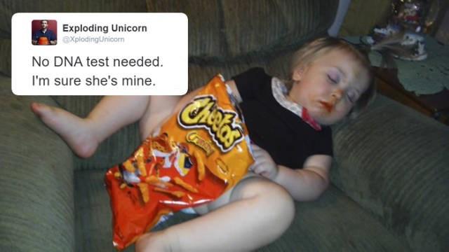 no dna test needed daughter loves cheetos