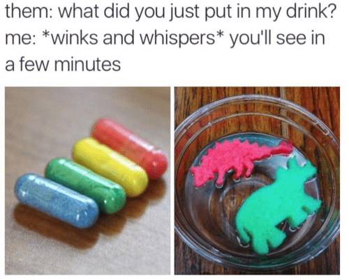 dinosaurs drinking prank Are These... Safe to Eat?