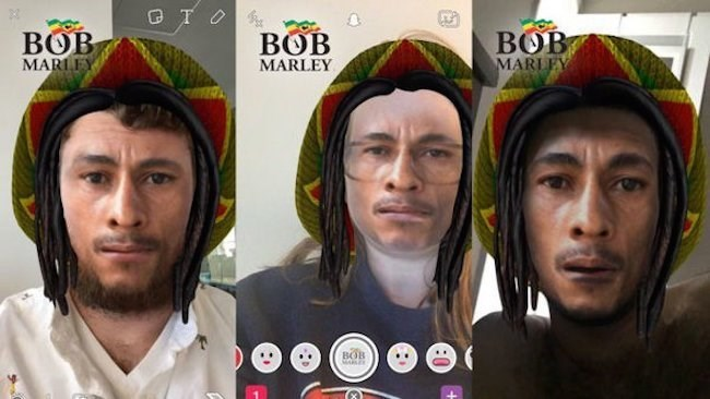 race snapchat bob marley This Bob Marley Snapchat Filter Is Probably Blackface and Was Definitely a Bad Idea